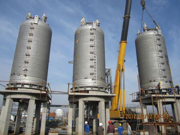 工程信息 工程业绩     川化建八公司青海西宁项目部承建的盐湖海纳化